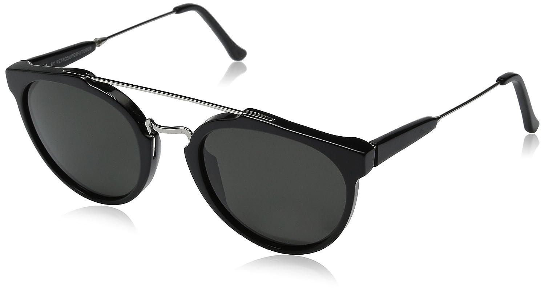 Retro Super Future 468 Giaguaro Negro Mate redondo gafas de ...