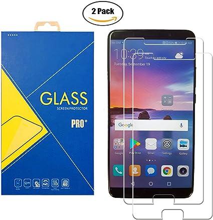 2 Pack] Protector de cristal templado compatible con Huawei Mate 10/ALP-L09 – Pantalla antigolpes y antiarañazos: Amazon.es: Electrónica