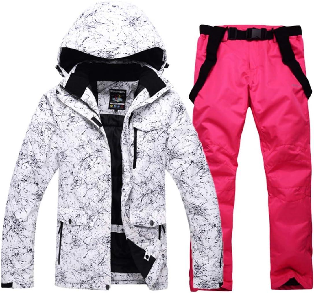 Wazenku メンズ&レディーススノーシューズウィンタースキージャケット&パンツセット (色 : 04, サイズ : XL)  X-Large