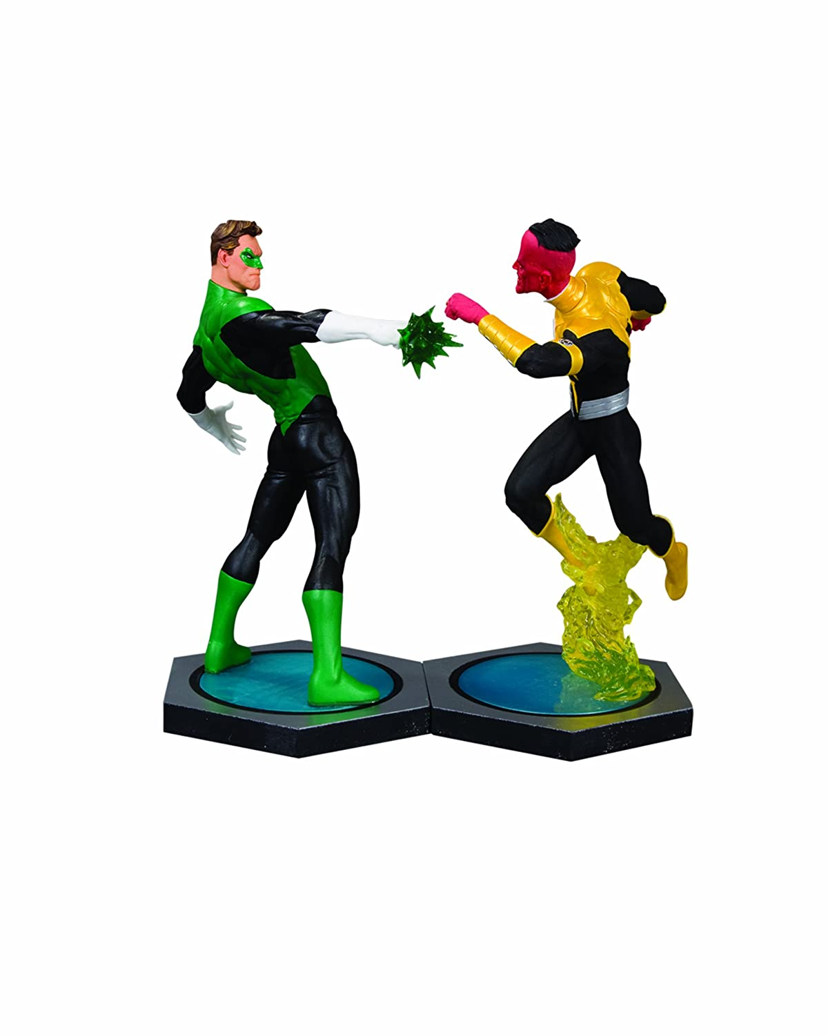 Ultimate Showdown: Grün Lantern vs. Sinestro Porzelan-Statuen Doppelset