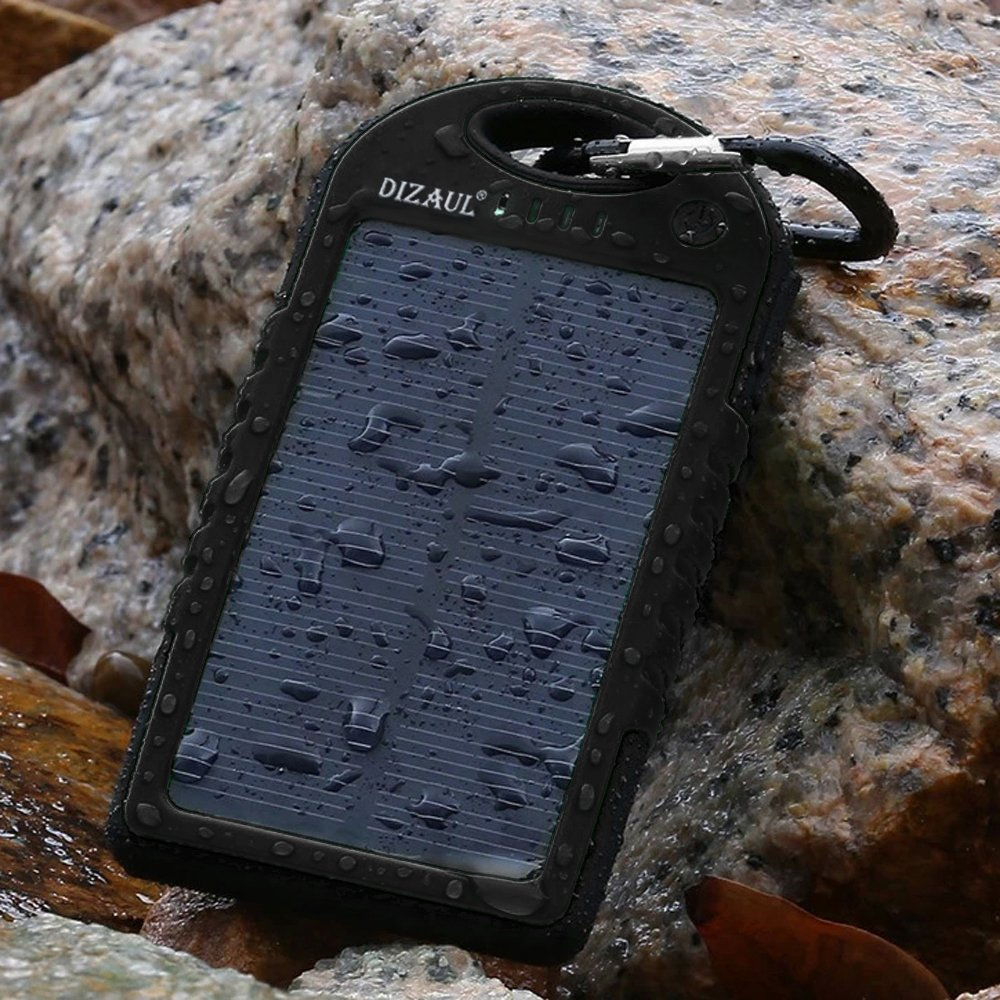 Solar Charger, Dizaul 5000mAh Portable Solar Power Bank Waterproof/Shockproof/Dustproof Dual USB Battery Bank for Cell Phone, Samsung, Android Phones, Windows Phones, GoPro Camera, GPS and More by dizauL (Image #7)