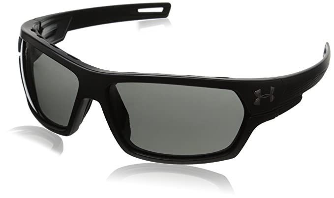 8b674e3709fb Amazon.com: Under Armour Ua Battlewrap Polarized Oval Sunglasses, Black, 68  mm: Clothing