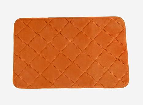 Tappeto memory arancio tappeto bagno create la vostra area