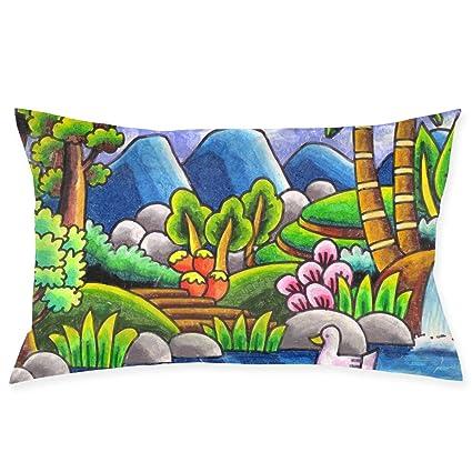 Amazoncom Asdgegasfas Sketsa Gambar Pemandangan Alam Pillow Case