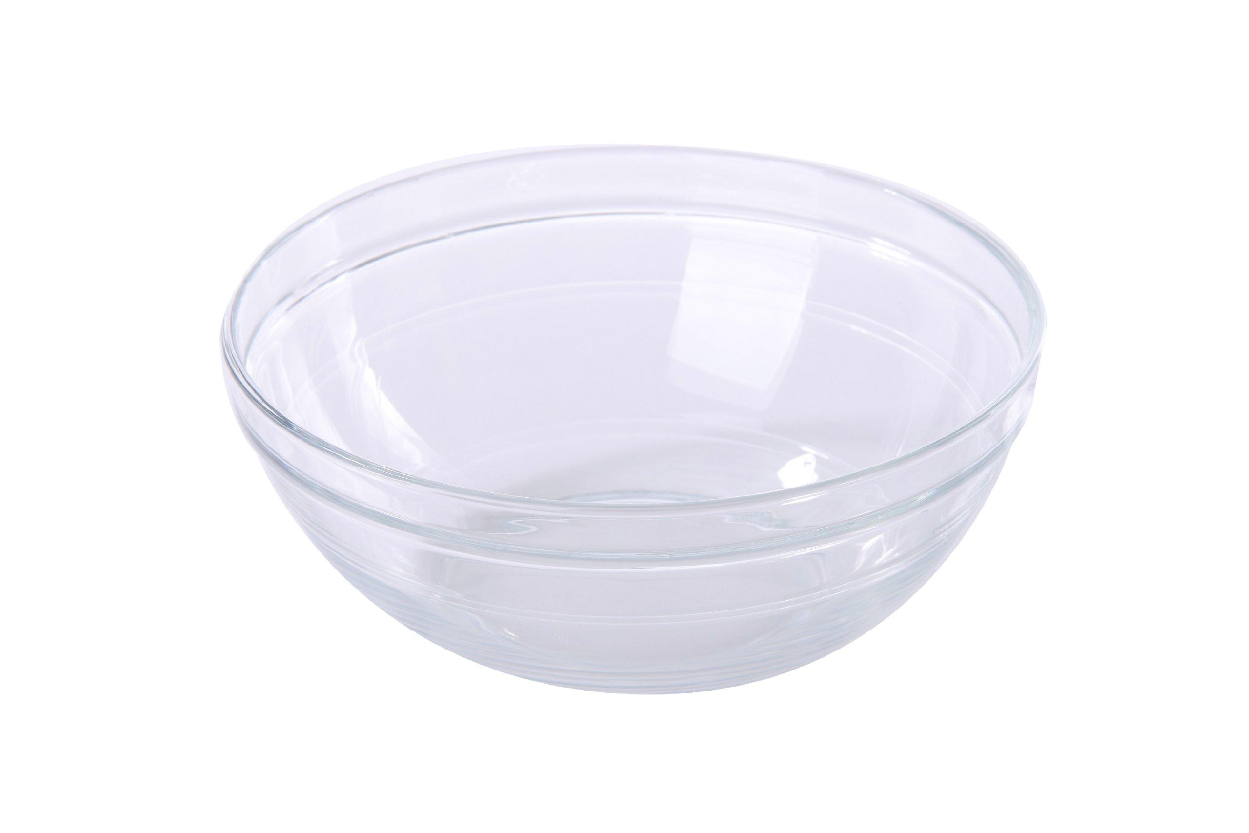 Duralex Lys Stackable Clear Bowl, Size: 1 ½ Quart