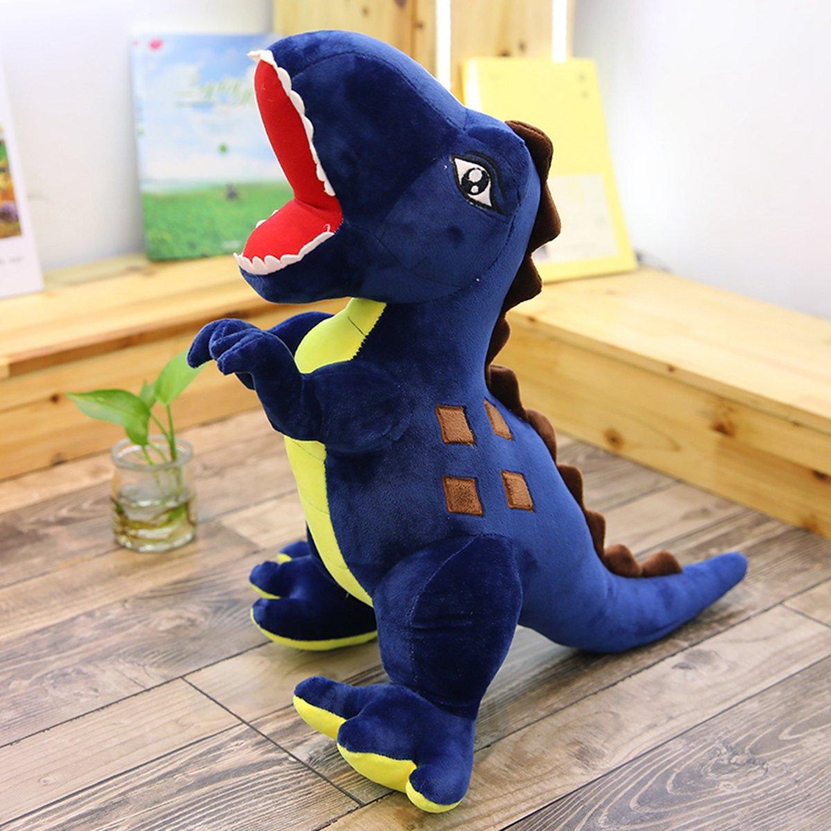 Bleu 115cm ahzha Poupée de Dinosaure Peluche Jouet Grand Roi Dragon d'étreinte d'oreiller de Tissu de poupée d'enfant d'anniversaire 115cm Vert