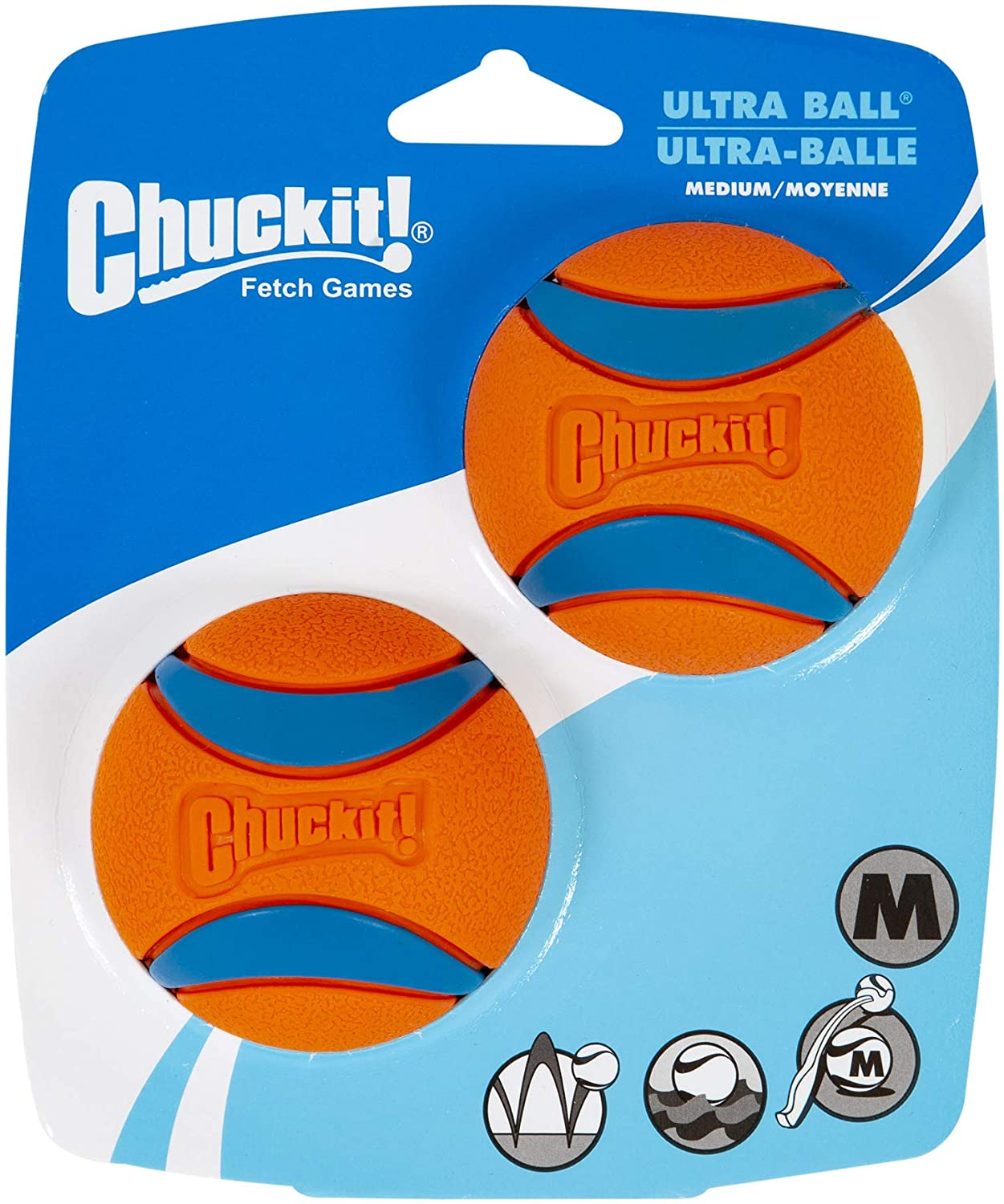 Chuckit Ultra Ball Medium - 2 Pelotas para Perros: Amazon.es ...