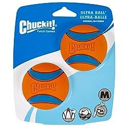 Bola Chuckit Ultra Ball 2Un Tamanho Médio para Cães Chuckit para Cães, Médioio