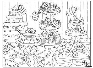 Tischsets I Platzsets Ausmalbilder Fur Kinder Geburtstagstisch