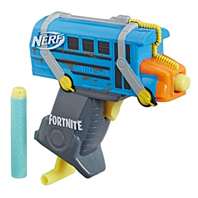 Fortnite Micro Battle Bus Nerf Microshots Dart-Firing Toy Blaster & 2 Official Elite Darts for Kids, Teens, Adults: Toys & Games