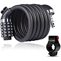 Candado de Bicicleta Seguridad Candado de Cable 5 Dígitos Combinación Bloqueo Antirrobo para bicicleta Moto Ciclismo…