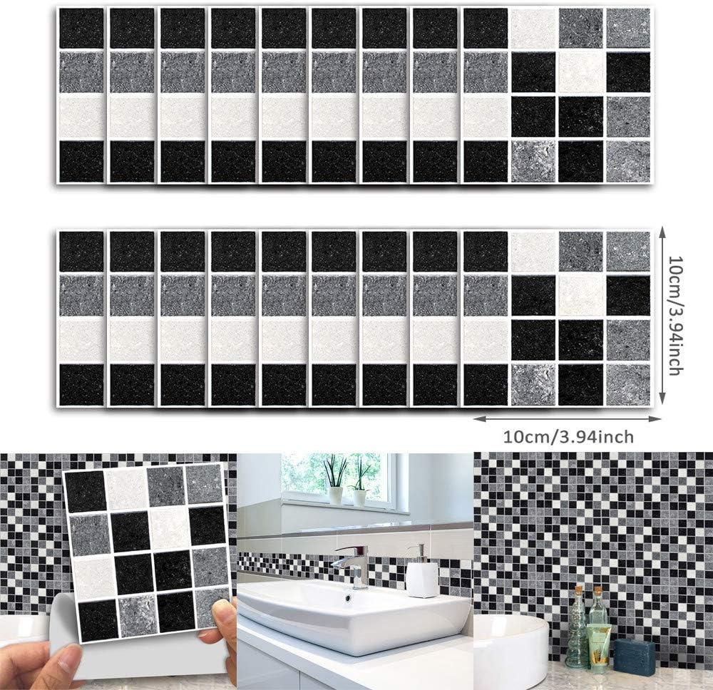 Self Adhesive Mosaic Tile Sticker Home Kitchen Decor Art Wall Decal Bathroom DIY