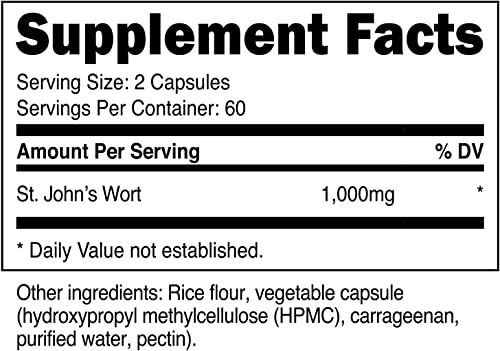 Nutricost St John s Wort Capsules 500mg 120 Capsules- Gluten Free and Non-GMO