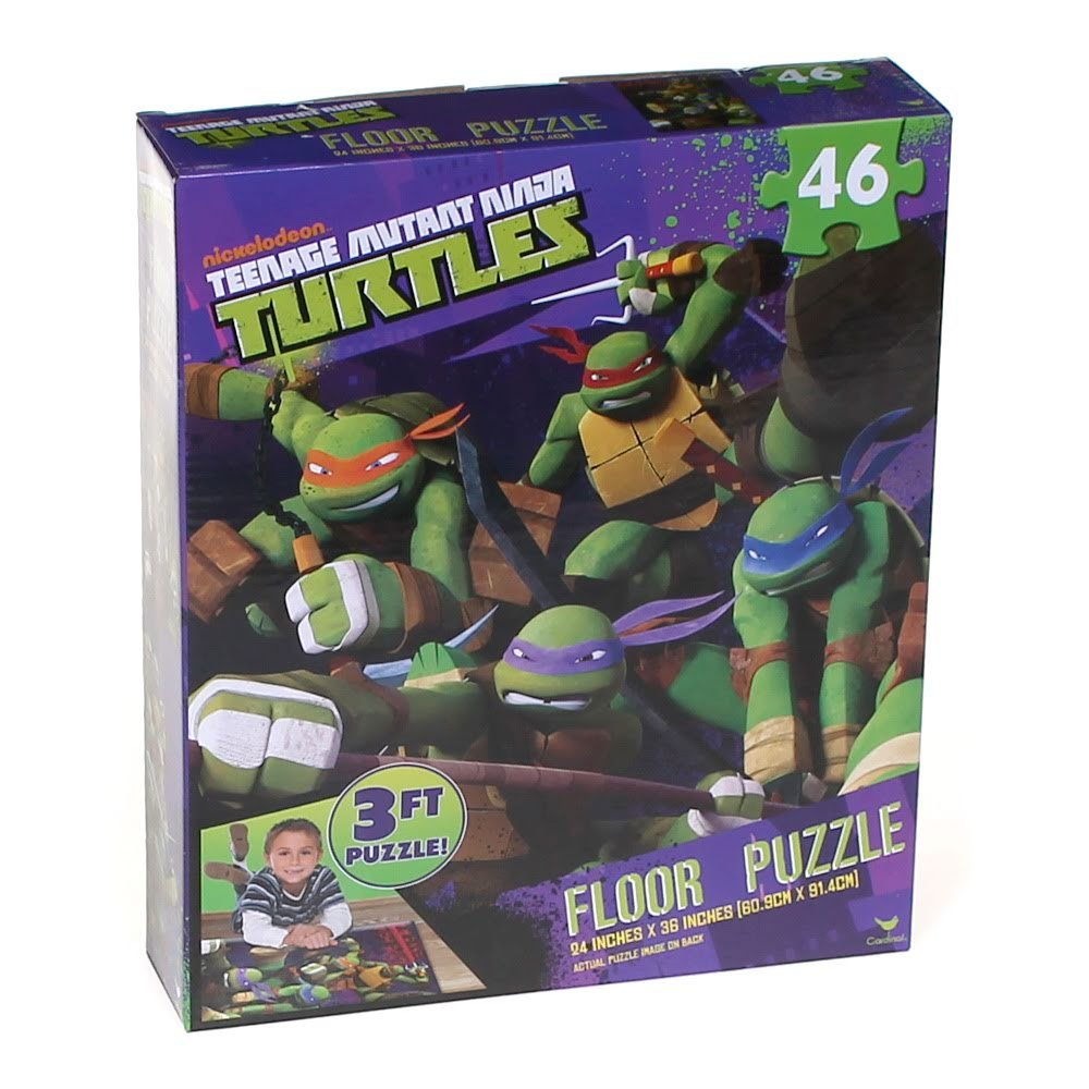Cardinal Teenage Mutant Ninja Turtles, 3 Foot Floor Puzzle ...