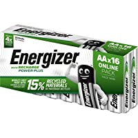 Energizer Rechargeable Batteries AA, Recharge Power Plus, Pack of 16