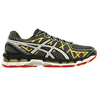 more photos a4b61 acd66 Asics Gel Kayano 20 Black Gold Mens Trainers Size 8 UK  Amazon.co.uk  Shoes    Bags