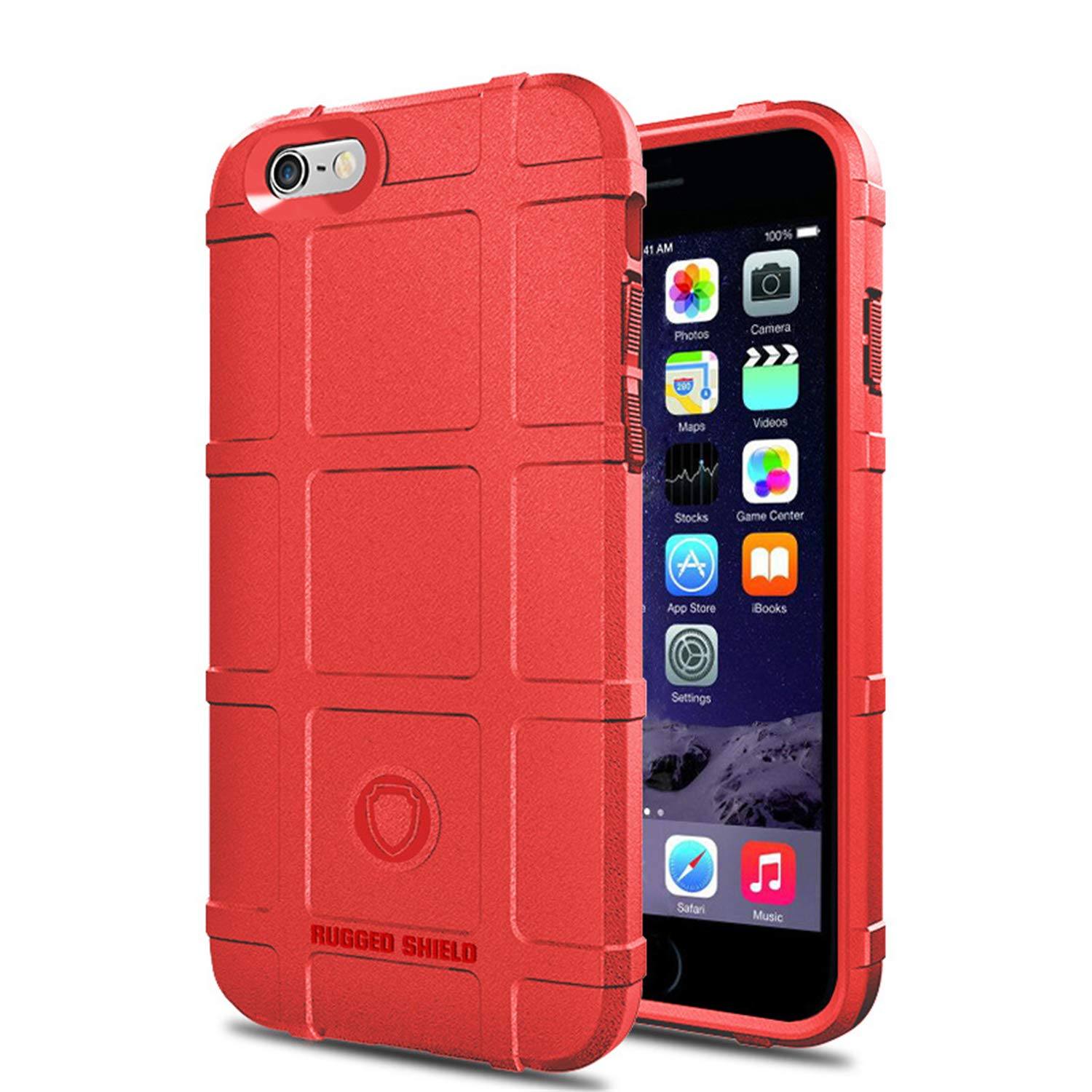 4d335ead22 Amazon.com: iPhone 6 6S Plus Case, Hybrid Armor Heavy Duty Military Grade  Drop Tested TPU Silicon Bumper Cover (iPhone 6 6S Plus, Black): Clothing