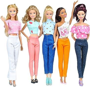 Amazon.es: E-TING 5 sistemas calidad muñeca ropa blusa hecha a ...