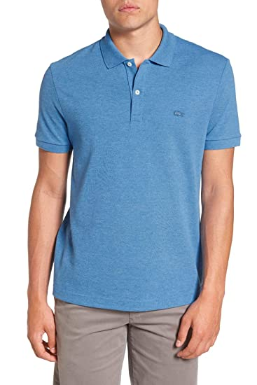 8464466f Lacoste Men's Regular Fit Short Sleeve Pique Polo Shirt with Tonal ...