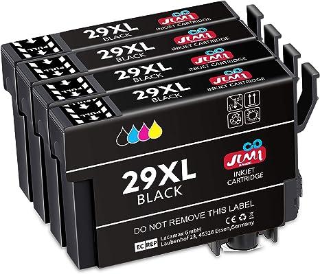 JIMIGO 29XL Alta Capacidad Cartuchos de Tinta para Epson 29,4 ...
