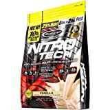 MuscleTech NitroTech Protein Powder Plus Muscle Builder, 100% Whey Protein with Whey Isolate, Vanilla, 10 Pounds (103…