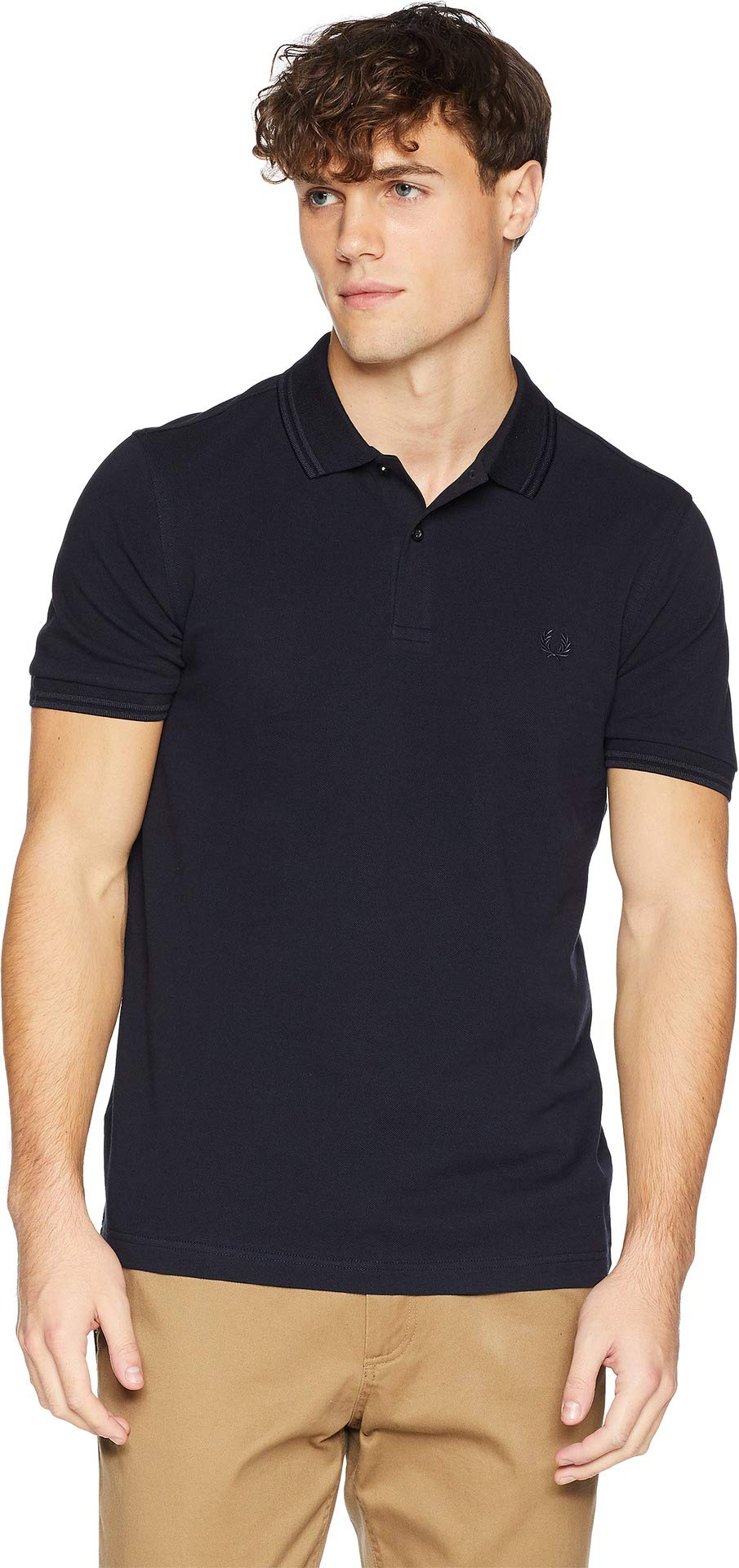 Fred Perry Men's Twin Tipped Shirt Navy/Navy X-Small