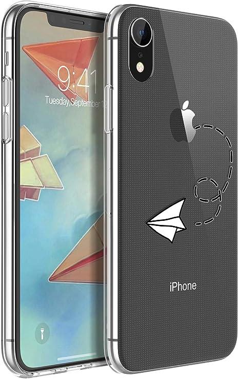Yokata Funda iPhone XR Transparente Carcasa Silicona Ultra Fina Suave TPU Gel Bumper Case Protección Anti-Golpes Anti-Choque con Dibujos Shell Cover: Amazon.es: Electrónica