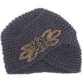 b2f818f18edd Vovotrade Mode Hiver Femmes Chaud Crochet Knit Ski Hat Tressé Turban Coiffe  Cap