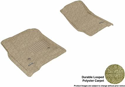 Classic Carpet L1CH00822202 Tan 3D MAXpider Second Row Custom Fit All-Weather Floor Mat for Select Chevrolet Aveo Models