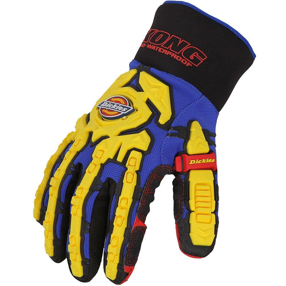 Dickies GL01WP BL XL Size X-Large 'Heavy Duty Waterproof Impact' Gloves - Steel Blue