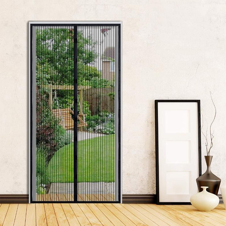 Puerta con mosquitera magnética, cortina de malla de 90 x 210 cm que evita la entrada de insectos mosquitos, deja entrar el aire fresco, negro: Amazon.es: Bricolaje y herramientas
