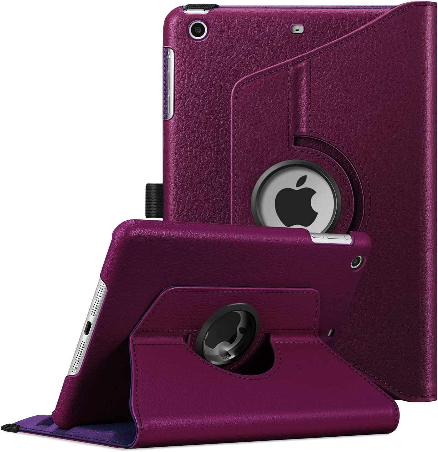 Fintie Rotating Case for iPad Mini 3/2 / 1-360 Degree Rotating Smart Stand Protective Cover with Auto Sleep/Wake for iPad Mini 1 / iPad Mini 2 / iPad Mini 3, Purple