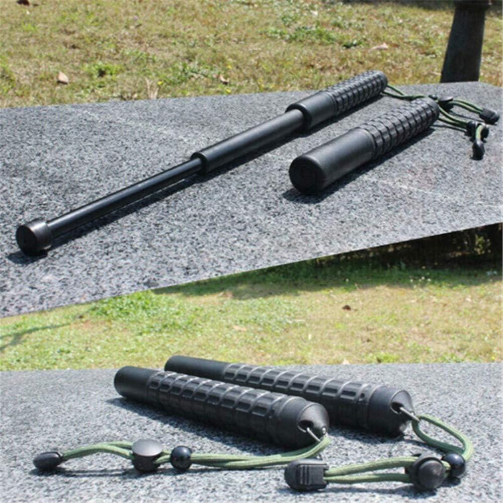 ABSURD Balanc/ín de autodefensa Balanc/ín de autodefensa telesc/ópico de Tres Secciones El Palo de pl/ástico del veh/ículo se Puede Usar para Romper la Ventana