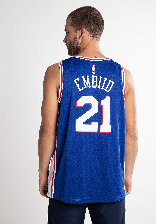 b47adf777 Amazon.com   Joel Embiid Philadelphia 76ers Nike Swingman Jersey Blue - Icon  Edition (X-Large)   Sports   Outdoors