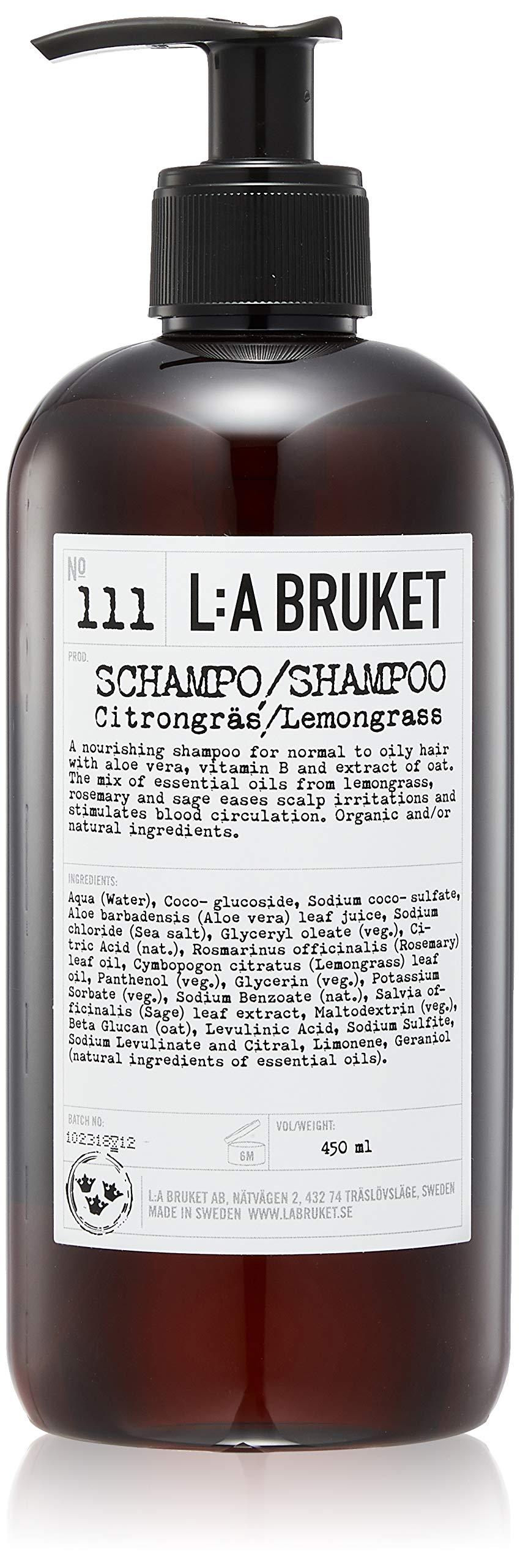 L:A Bruket No. 111 Lemongrass/Citrongras Shampoo 450 ml by L:A Bruket