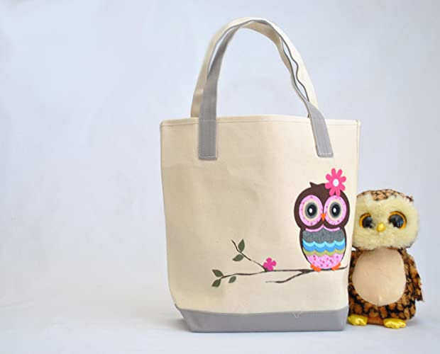 Amazoncom Owl Tote Personalized Library Bag Teacher Tote