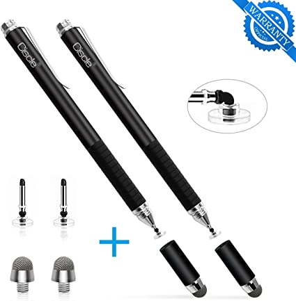 Hybrid 2-in-1 Capacitive Stylus Touch Screen Pen for Tablet iPhone iPad Samsung