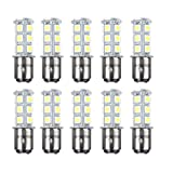 HOTSYSTEM 1157 1154 18 LED SMD Light Bulbs For RV SUV MPV Car Turn Tail Signal Brake Light Lamp Backup Lamps White 10-pack