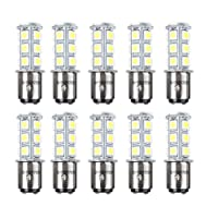 HOTSYSTEM 1157 1154 18 LED SMD Light Bulbs For RV SUV MPV Car Turn Tail Signal Brake Light Lamp Backup Lamps White 10-pack