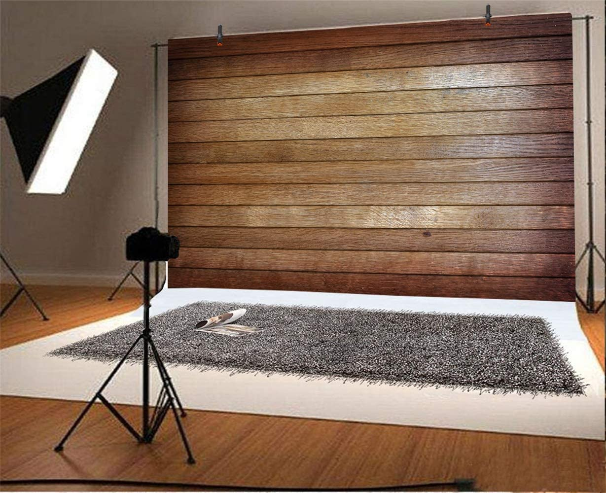Polyester 8x6ft Grunge Retro Lateral-Cut Wood Texture Plank Photography Background Rustic Vintage Wooden Board Backdrop Children Adult Pets Portrait Shoot Studio Props Nostalgia
