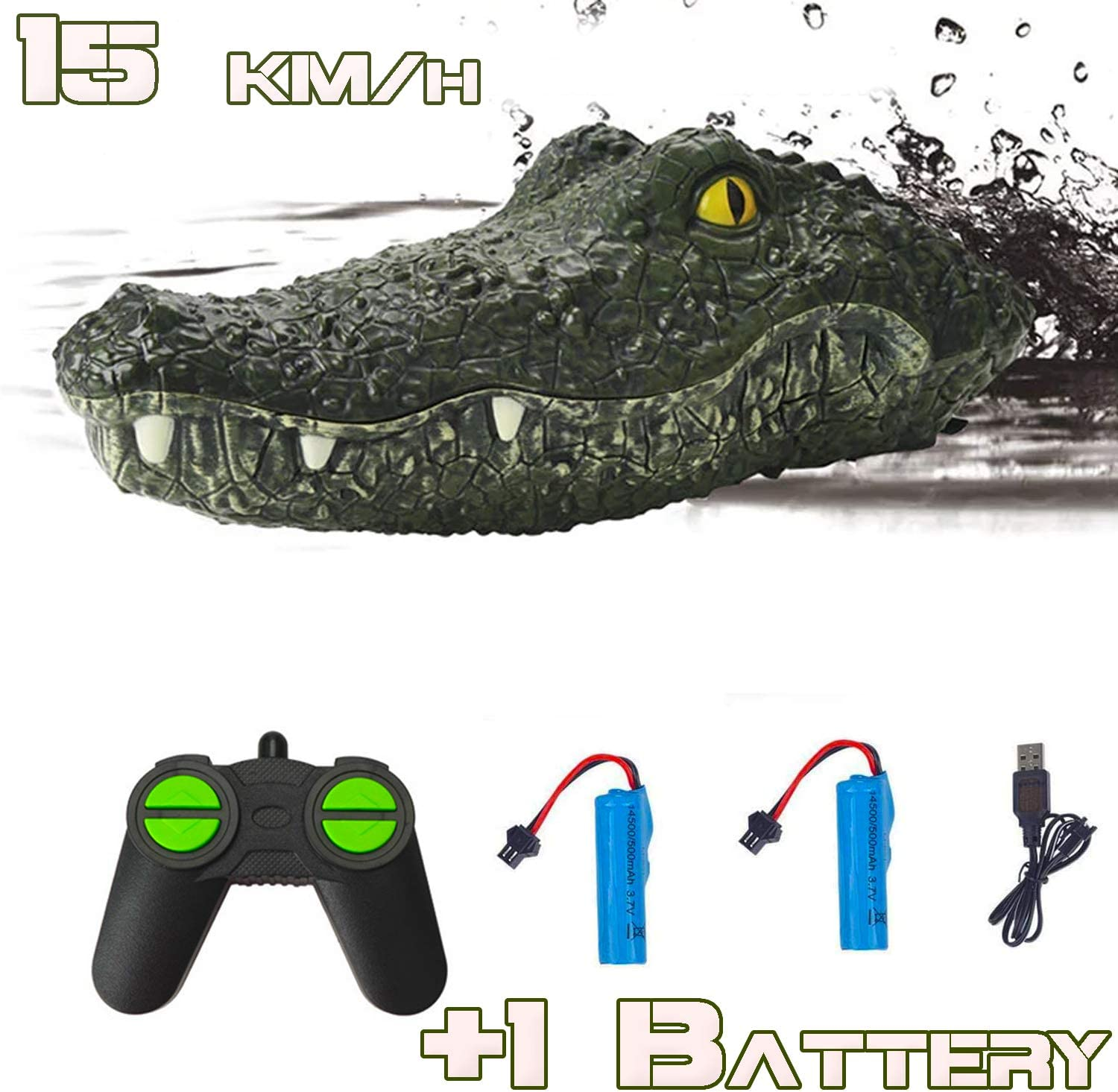 Remote Control Alligator Head Boat - Floating Crocodile Head Remote Control Boats for Pools and Lakes for Kids and Adults - Rc Boats Gift Toys for 10 Year Old Boys and Adults