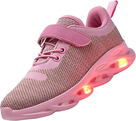 AoSiFu Kids LED Light Up Shoes Breathable Kids Girls Boys Breathable Flashing Sneakers as Gift
