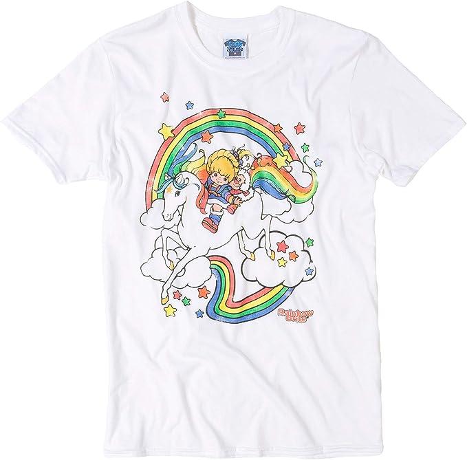 Mens Rainbow Brite Clouds White T-shirt