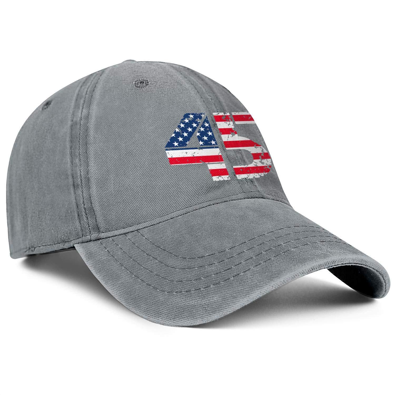 Baseball Cap Trump 45 Squared 2020 Second Presidential Term Snapbacks Truker Unisex Adjustable Cowboy Hat