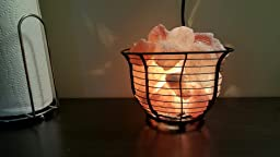 Salt Lamps Cons : Amazon.com: Crystal Allies Gallery: Natural Himalayan Salt Wire Mesh Basket Lamp w/ Dimmable ...