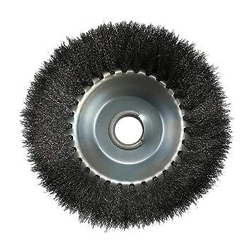 Cabezal para desbrozadora de acero con hilo de rueda y cepillo de ...
