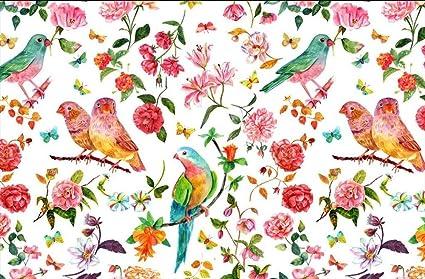 Mbwlkj 3d Desktop Wallpaper Floral Wall Mural Bird Wallpaper