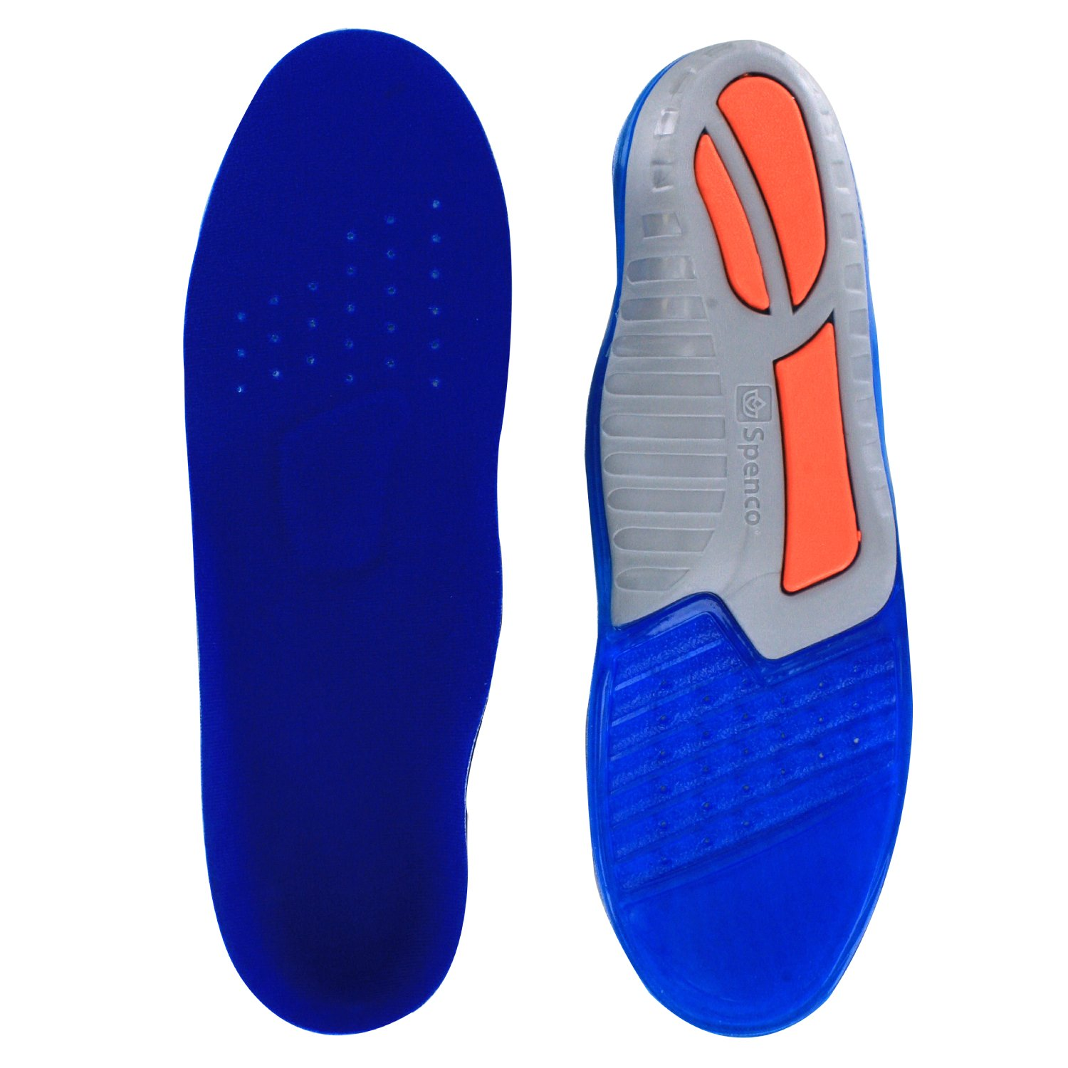 Spenco Total Support Gel Shoe Insoles, Women's 9-10.5/Men's 8-9.5