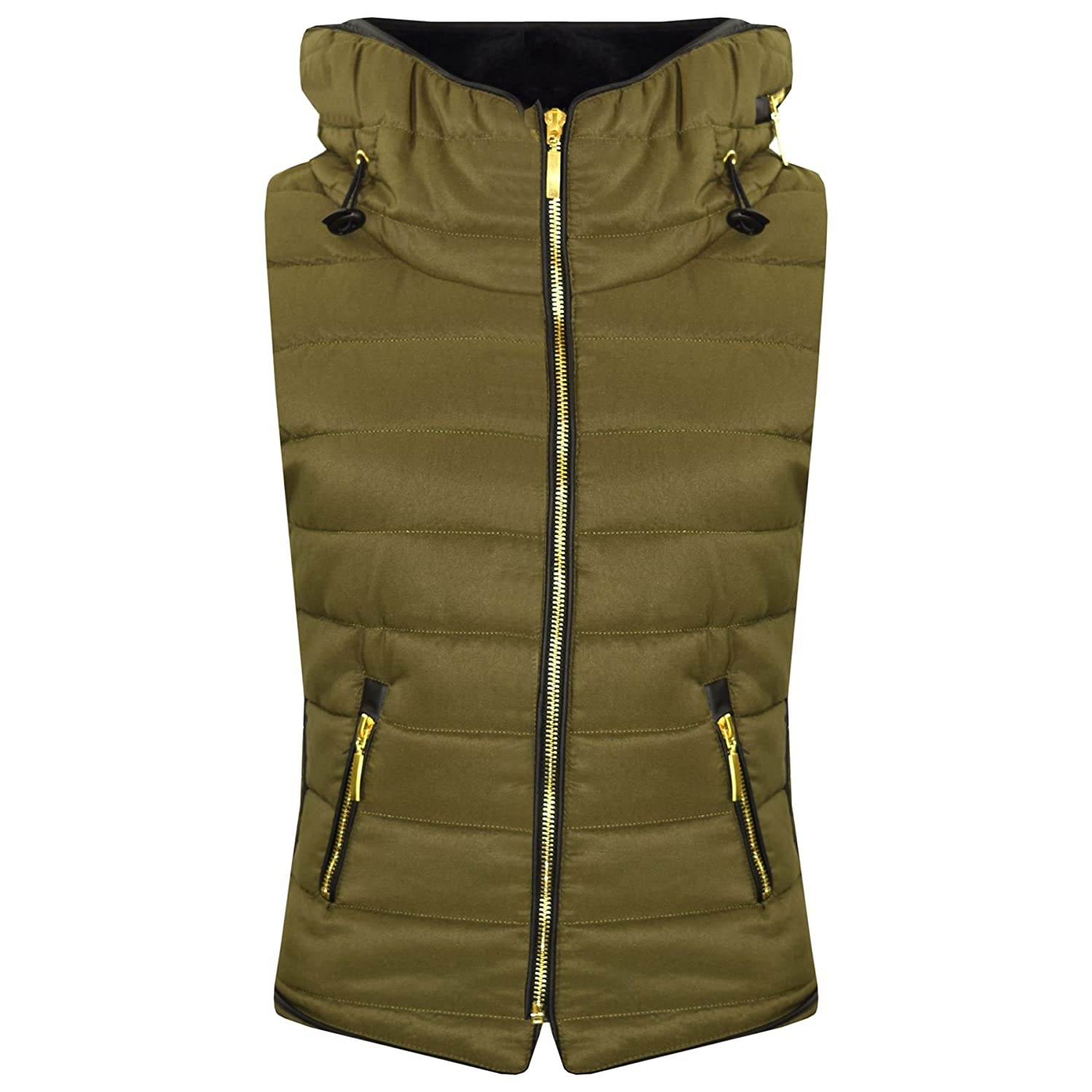 A2Z 4 Kids® Kids Girls Boys Designer's Sleeveless Hooded Padded Quilted Puffer Bubble Gilet Bodywarmer Jackets 5 6 7 8 9 10 11 12 13 Years