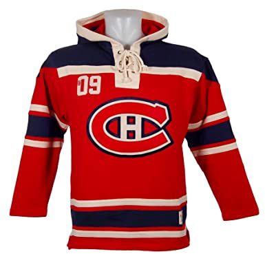 ... Old Time Hockey Montreal Canadiens Lace Up Jersey Hoodie NHL Sweatshirt  L ... f299cb51b